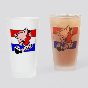 Croatia Soccer Pigs Pint Glass